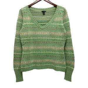 American Eagle V-neck Knit Sweater Cropped Size L